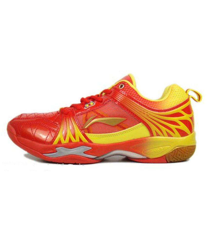 Li Ning Titan Limited Badminton Shoes Yellow Red