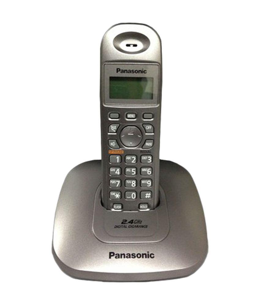 Panasonic KX-TG3611SXM Cordless Landline Phone (Black & Grey)