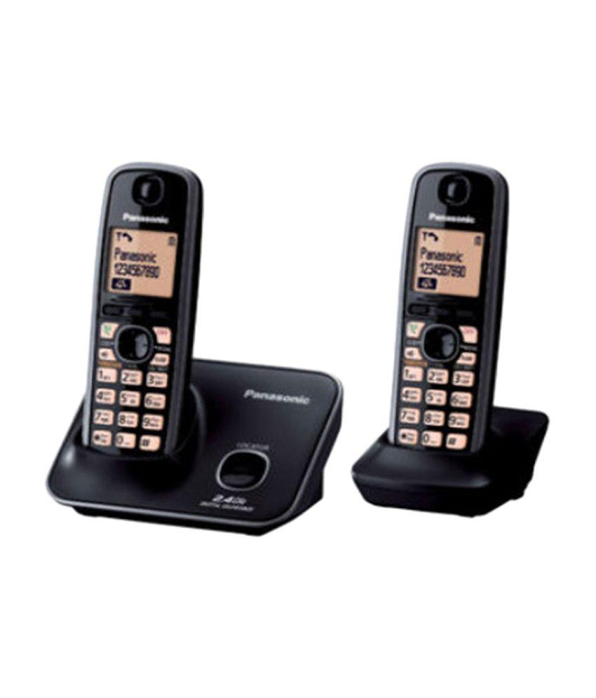 Panasonic KXTG-3712 Cordless Landline Phone (Black)