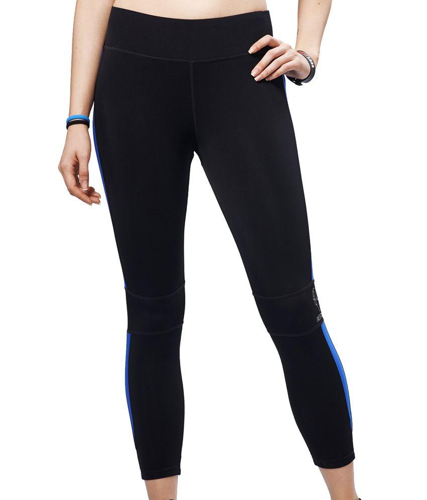 Restless Black/Blue Capri (Breathable Fabric )