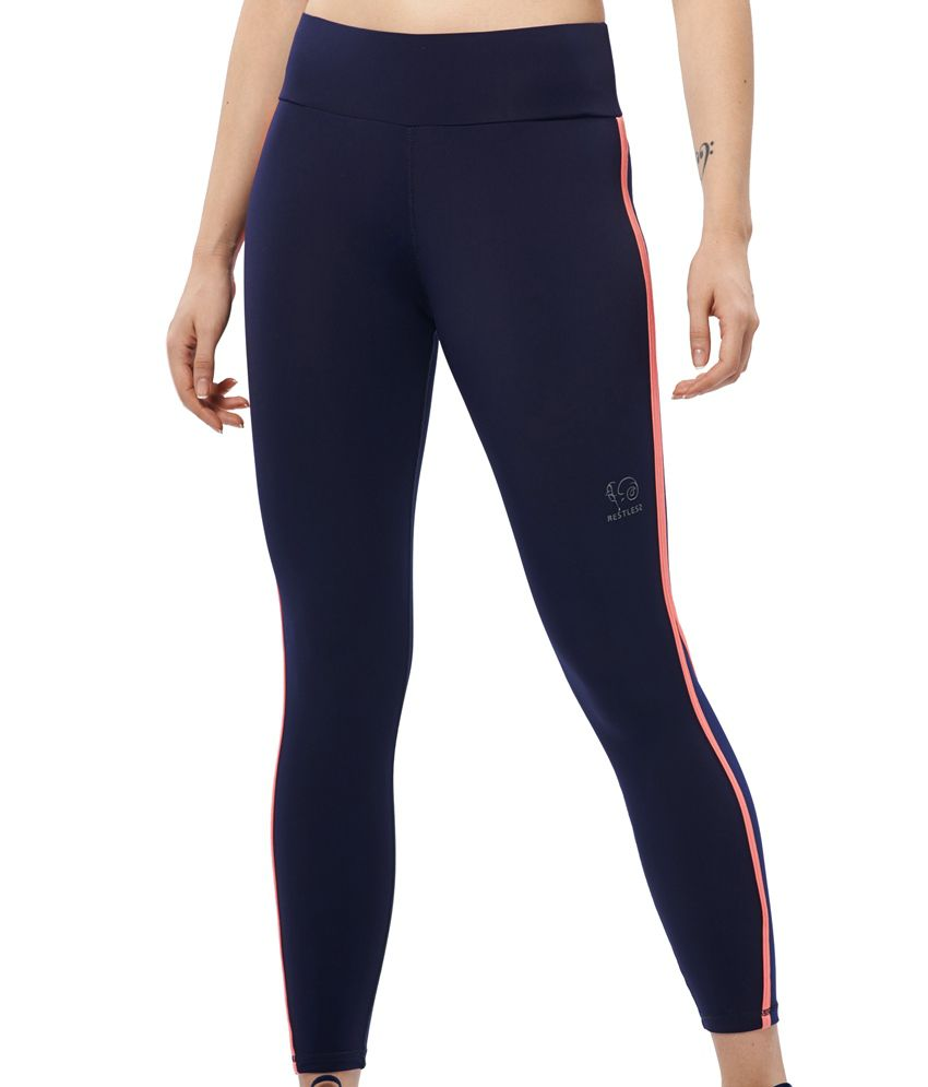 Restless Navy/Peach Capri (Breathable Fabric )