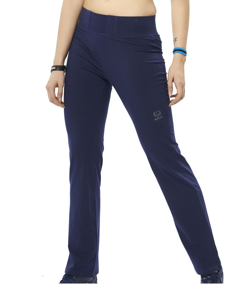 Restless Navy Tracks (Cotton Lycra)