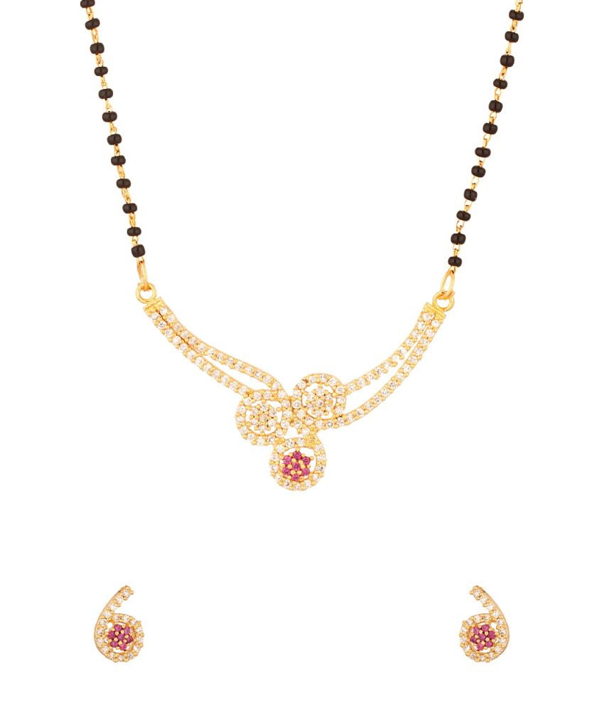 Voylla Mangalsutra With Enamel Work Featuring Single Chain
