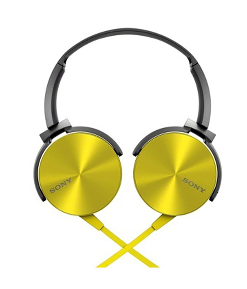 545a9b785d2 Sony MDR-XB450 On-Ear Extra Bass(XB) Headphones (Yellow) Without Mic - Buy  Sony MDR-XB450 On-Ear Extra Bass(XB) Headphones (Yellow) Without Mic Online  at ...