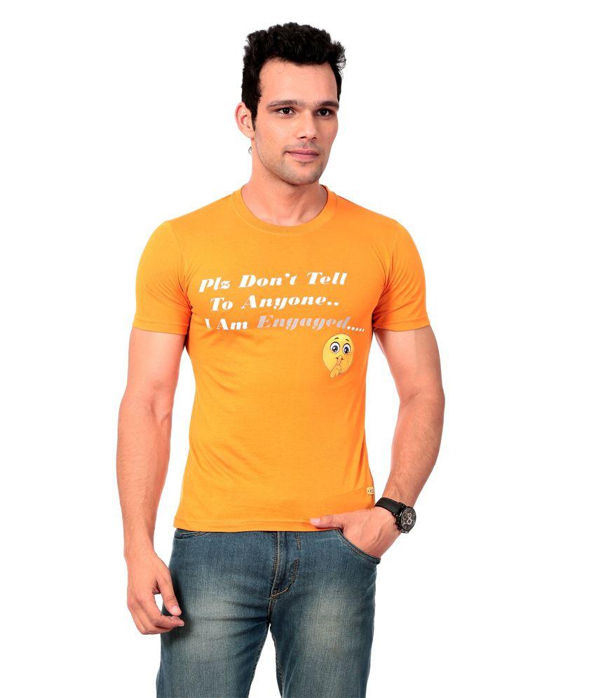 Texco Orange T-shirt For Men