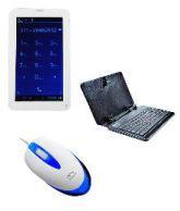 Ambrane 2G Calling Tablet AC-770 + Ambrane Tablet Keyboard KB-7+Ambrane Wired Mouse M-111