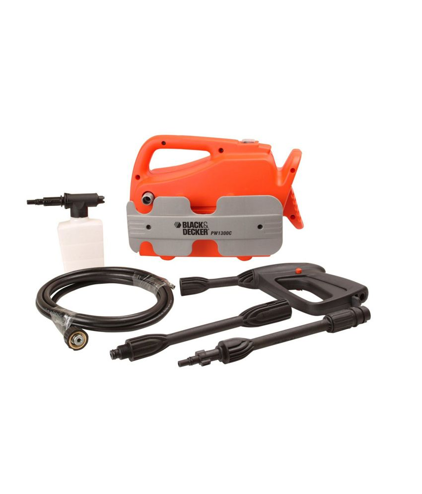 Black & Decker PW1300C 110 Bar High Pressure Washer/Cleaning Machine