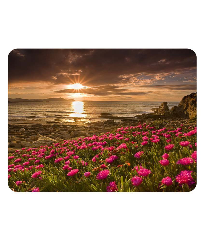 Shopkeeda Sunrise Flowers Mouse Pad