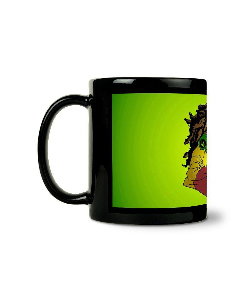 Bluegape Animated Musician Black Mug
