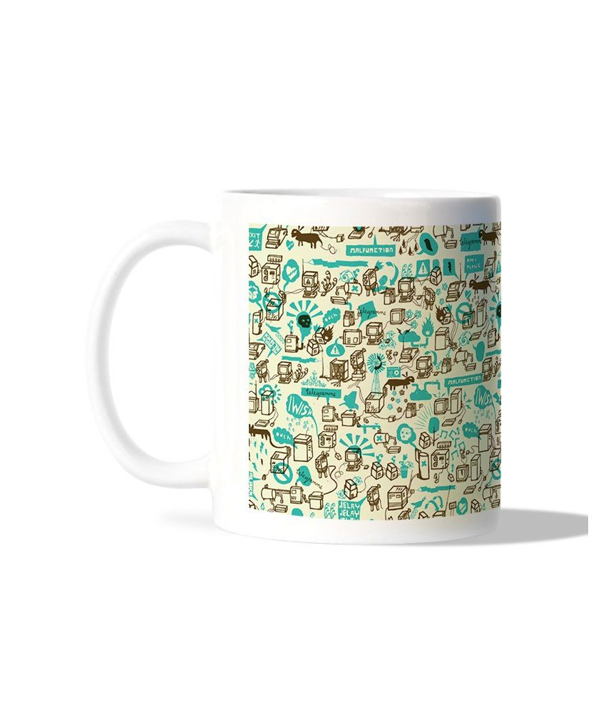 Bluegape Technology Graphics White Mug