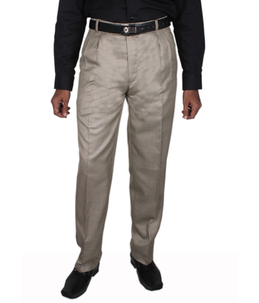 Maharaja Design Light Camel Men's Formal Trouser