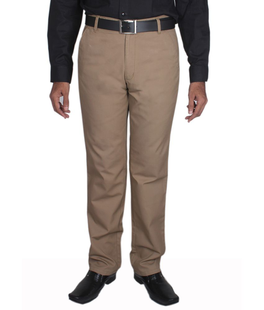 Maharaja Khaki Men's Semi Formal Trouser