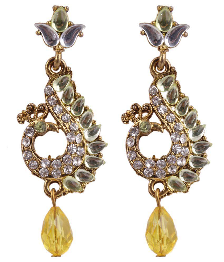 Sp Jewellery Elegant Yellow Drop Earrings