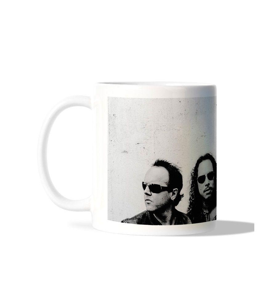 Bluegape Black Music Band White Mug