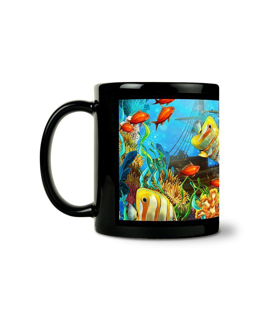 Bluegape Underwater World Black Mug