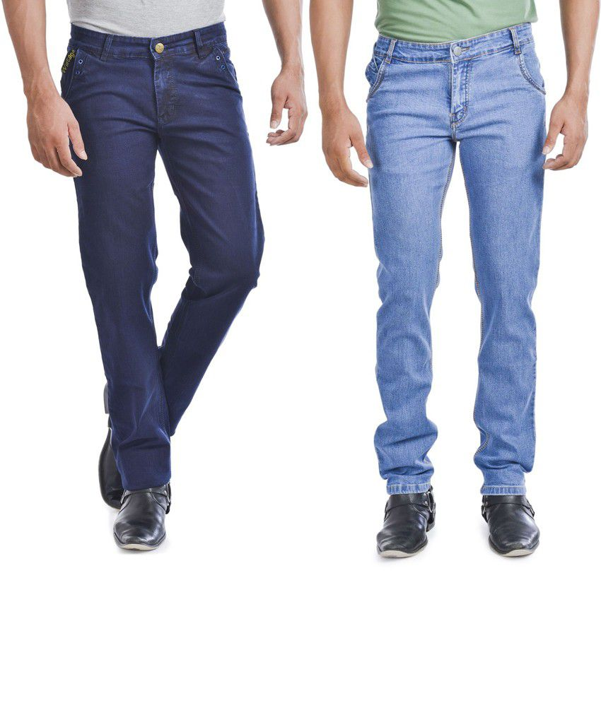 Wintage Jeans Trendy Combo Of Two Regular Fit Blue Jeans