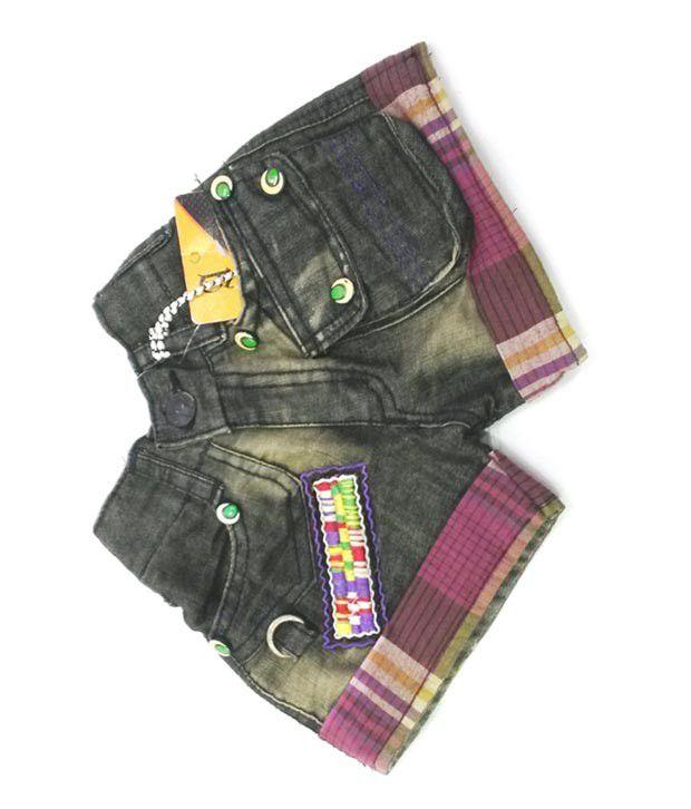 4s Black Denim Shorts