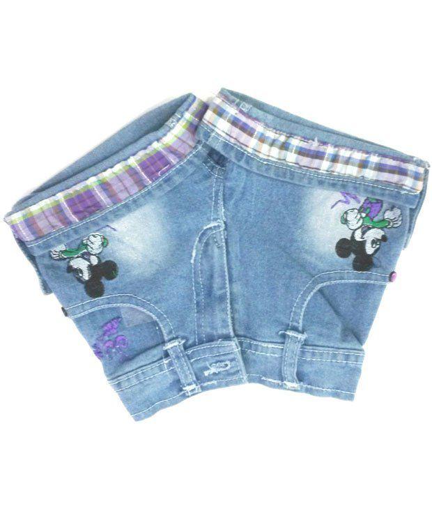 4s Trendy Blue Shorts