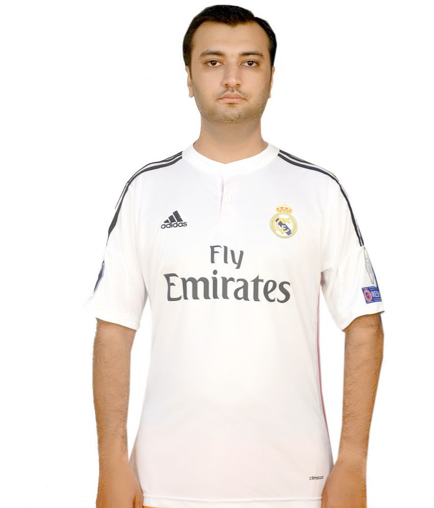 Adidas White Polyester Original Ronaldo 7 Real Madrid Jersey - Buy Adidas White  Polyester Original Ronaldo 7 Real Madrid Jersey Online at Low Price in India  ... 2700dd8c9