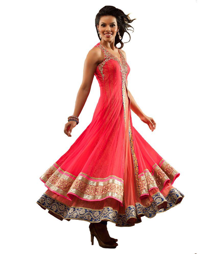 Aishwarya Design Studio Wedding Wear Pink Peach Color Suit Buy