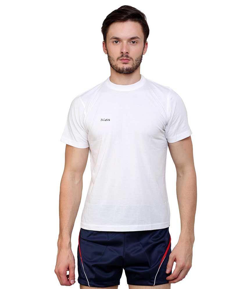 Dida  White Cotton T-shirt