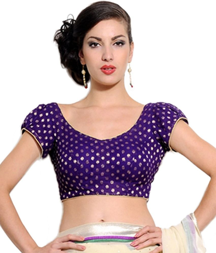Rutbaa Purple Brocade Blouse - Buy Rutbaa Purple Brocade Blouse Online at  Low Price - Snapdeal.com