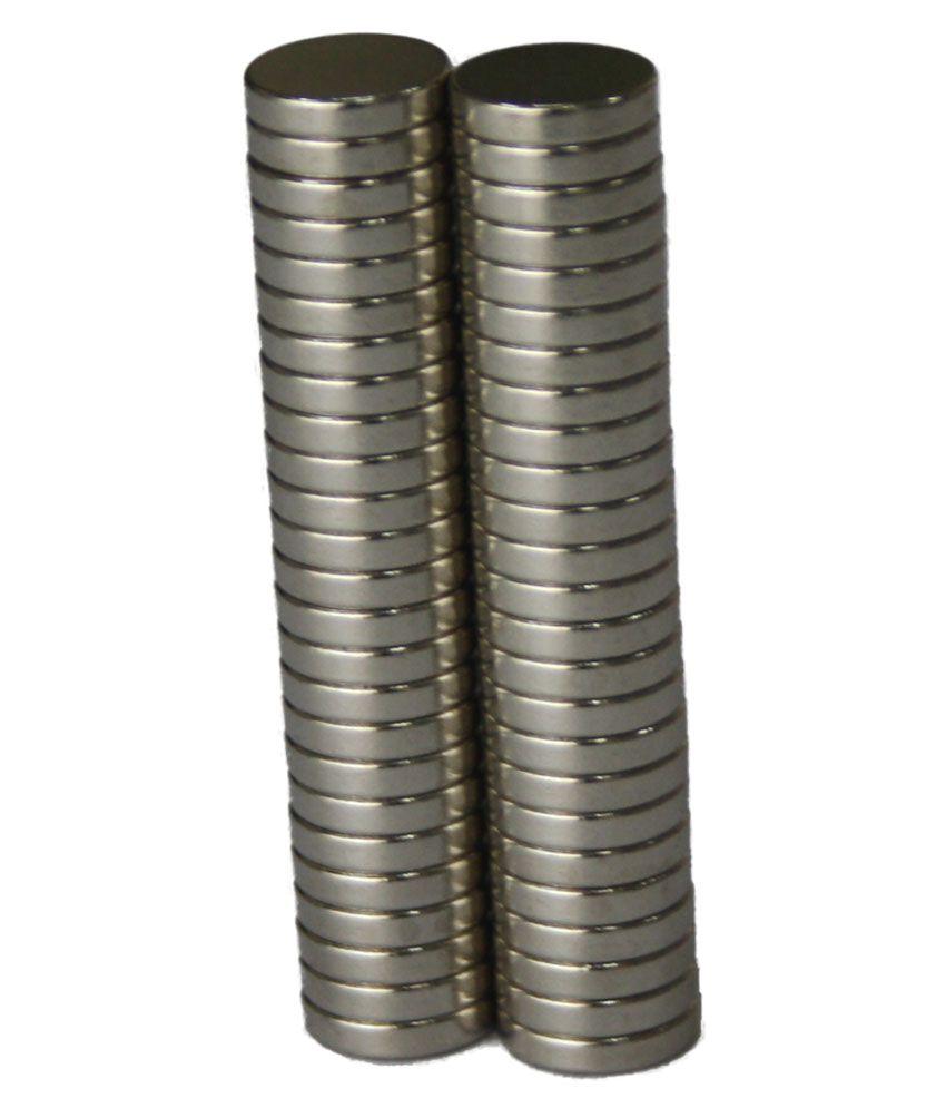 TechtoneMagnetics 50 Strong Neodymium Magnets 10mm X 2mm Disc