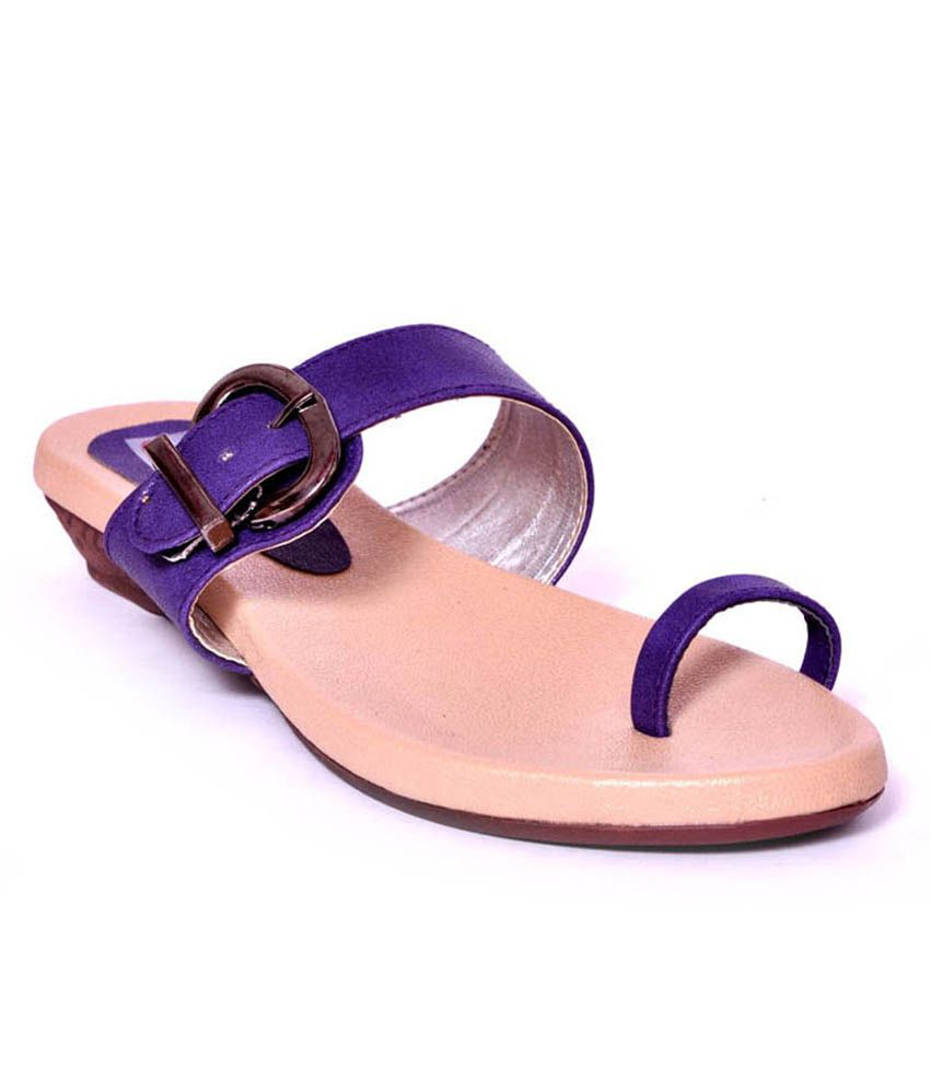 Foot Step Purple Women Sandals With Tpr Sole
