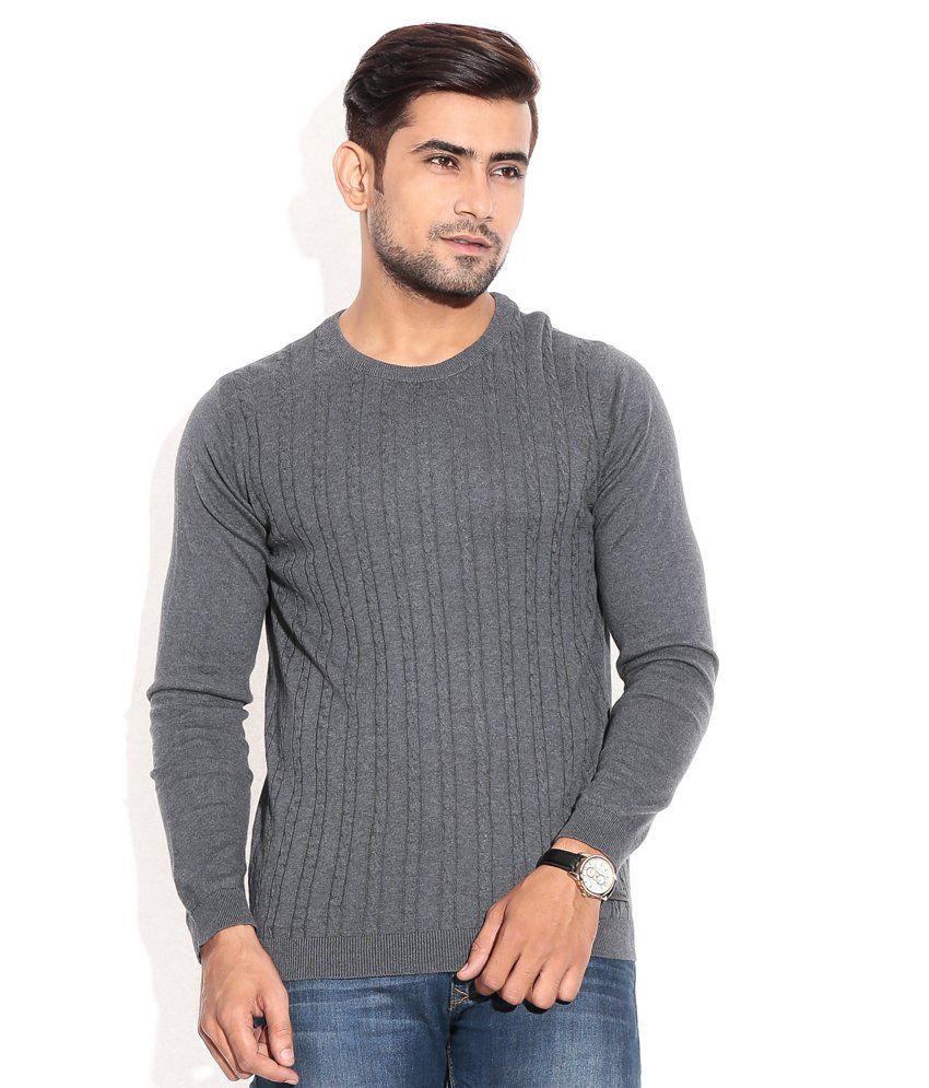 Jack & Jones Gray Cotton  T-Shirt
