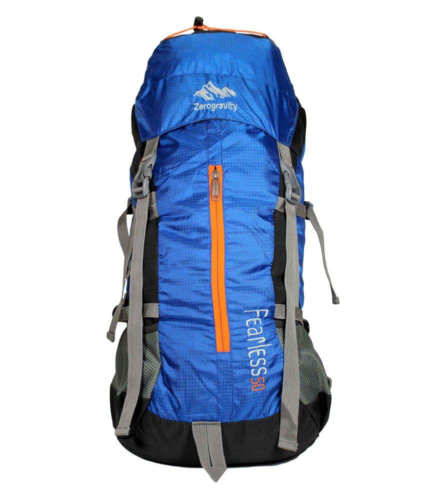 Zero Gravity Fearless 7110 Trekking Bag/ Rucksacks 50l 25 Inch Inches Neon Blue