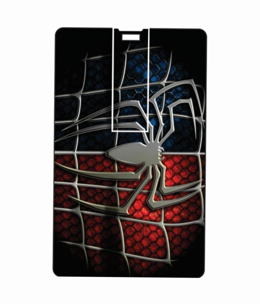 Printland Spider Web 8GB 8 GB Pen DrivesMulticolor