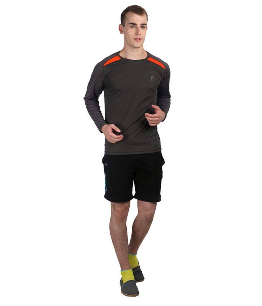 Proline Active Gray Polyester T-shirt