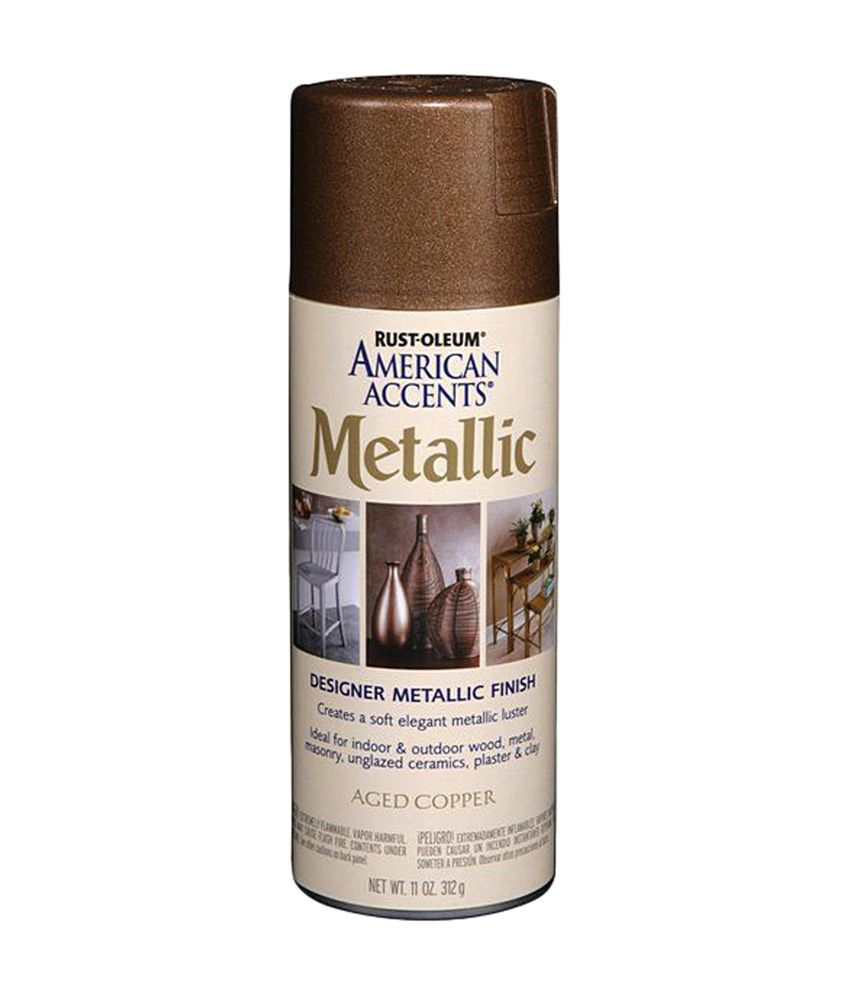 Rust-oleum American Accents Designer Metallic Spray - Aged Copper  available at snapdeal for Rs.585