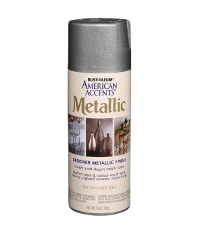 Rust-oleum American Accents Designer Metallic Spray - Satin Nickel  available at snapdeal for Rs.585