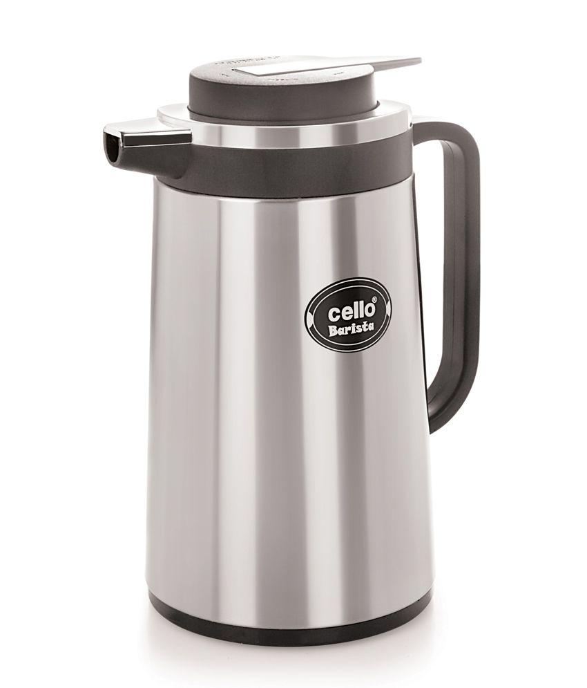 Cello Barista Vacuum Flask (1300 ml) Black: Buy Online at ...