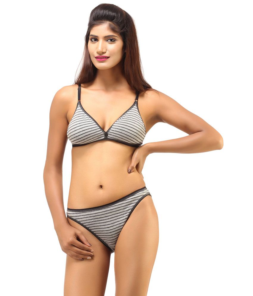 Buy DesiHarem Multi Color Cotton Bra   Panty Sets Pack of 2 Online at Best Prices  in India - Snapdeal a241d3ed3