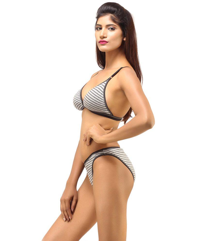 d1369a6c0c Buy DesiHarem Multi Color Cotton Bra   Panty Sets Pack of 2 Online ...