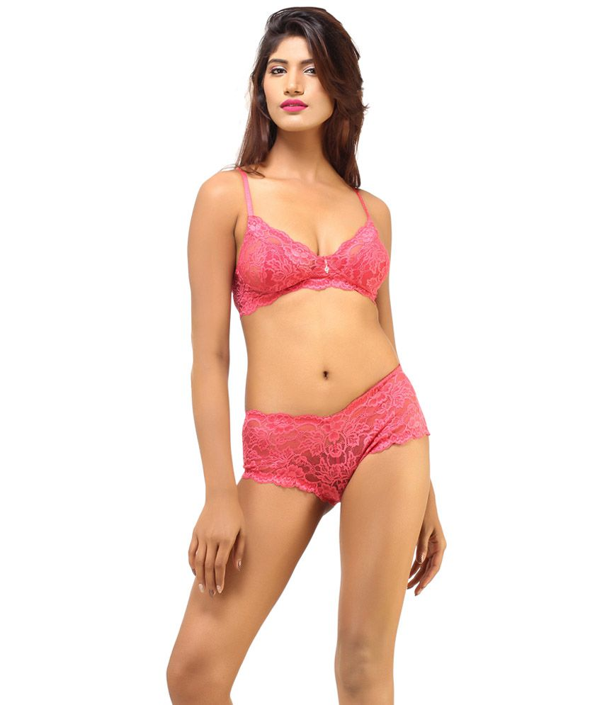 df141ac3ad3 Buy DesiHarem Multi Color Cotton Bra   Panty Sets Pack of 2 Online at Best  Prices in India - Snapdeal