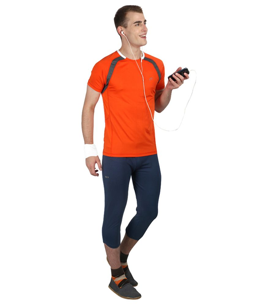 Proline Active Orange Polyester T-shirt