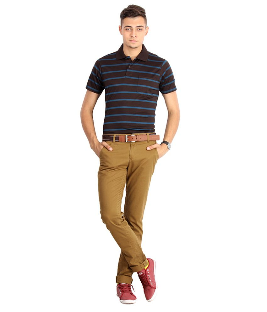 Proline Colours Brown Polo T-shirt