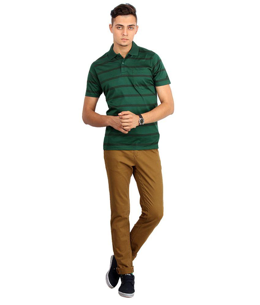 Proline Colours Green Polo T-shirt