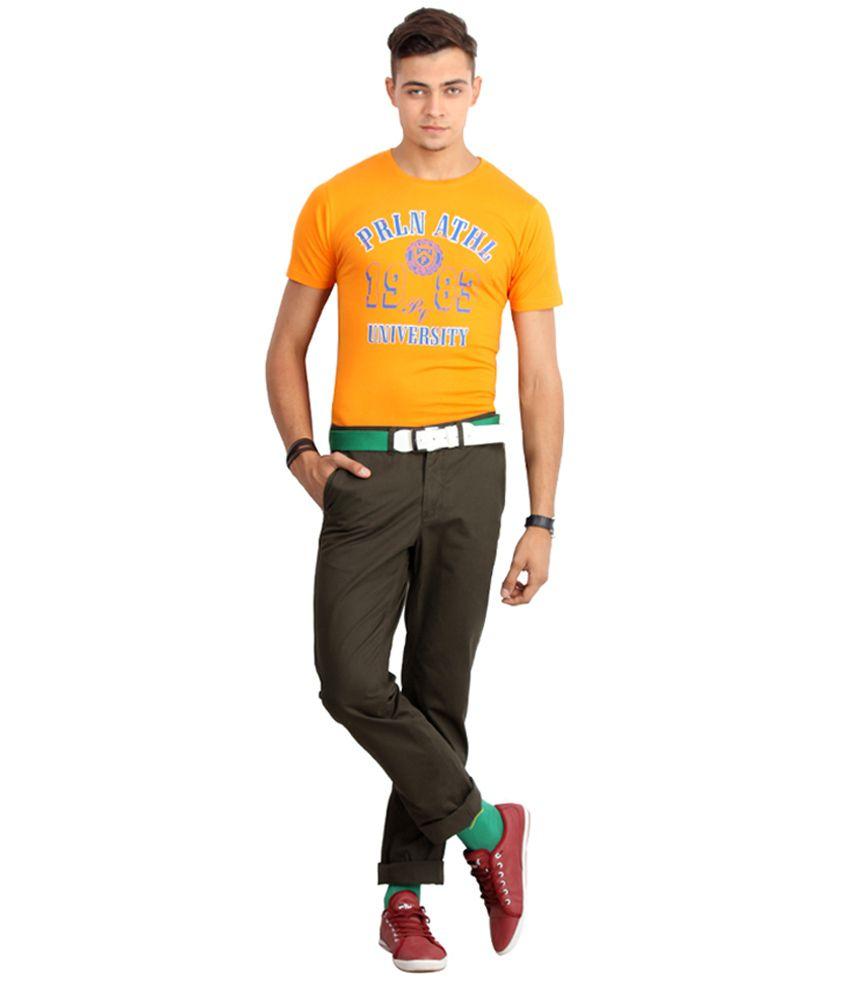 Proline Colours Orange Cotton T-shirt