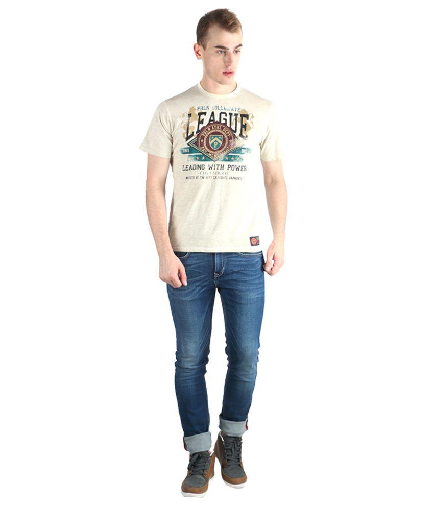 Proline Varsity Gray Cotton T-shirt