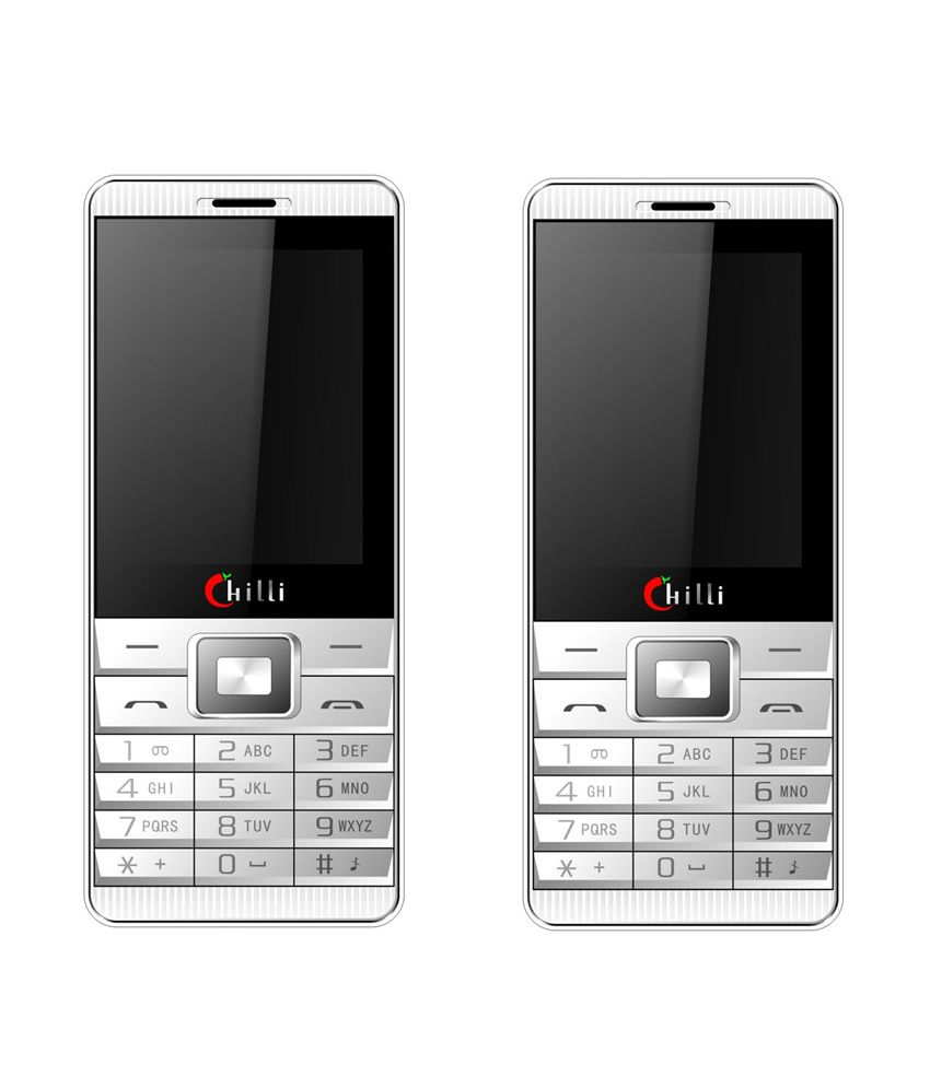 Chilli B22 Mobile Phone white with silver ( Buy 1 and Get 1 Free)