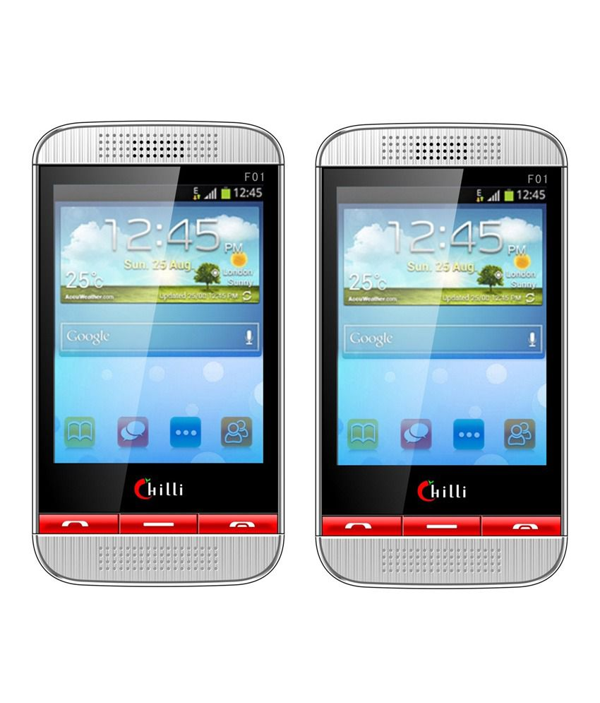 Chilli F01 Mobile Phone Black with Red ( Buy 1 and Get 1 Free)