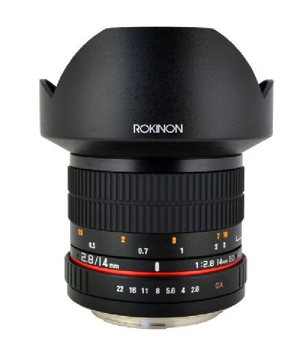 Rokinon 14mm F2.8 Ultra Wide Angle Lens With Automatic Chip For Nikon (black)