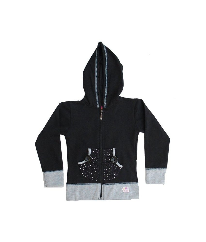 Sweet Angel Full Sleeves Black Color Hooded Sweat Shirts For Kids