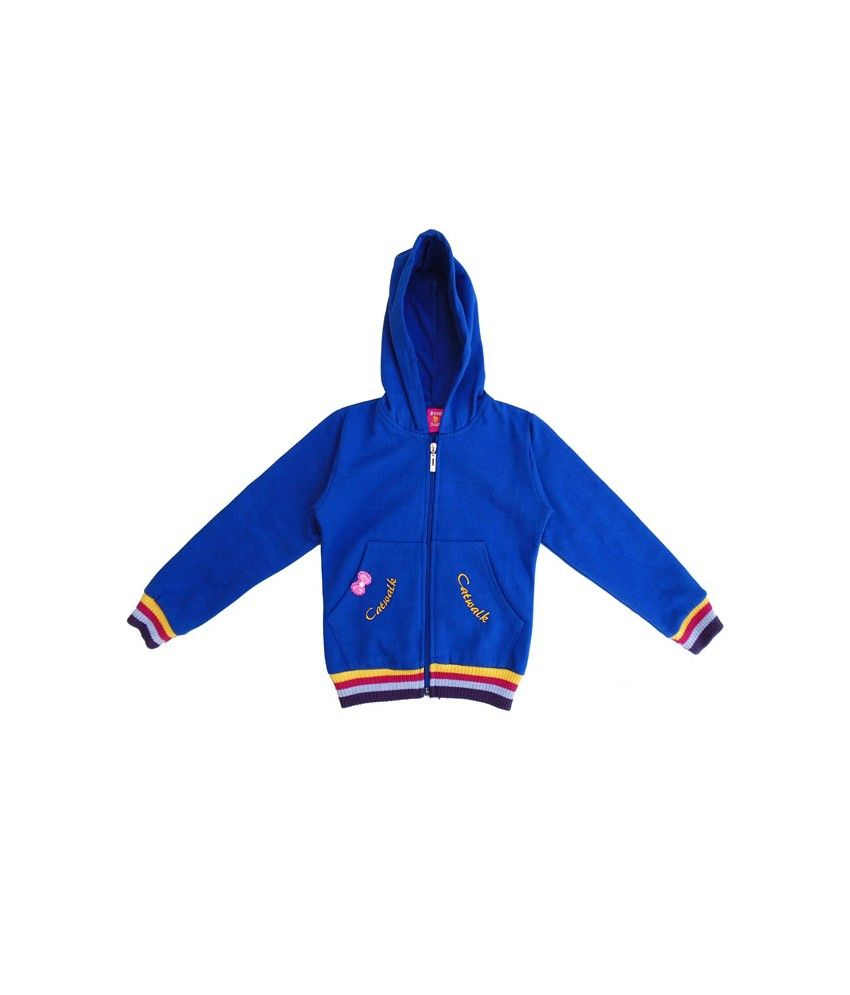 Sweet Angel Full Sleeves Blue Color Hooded Sweat Shirts For Kids