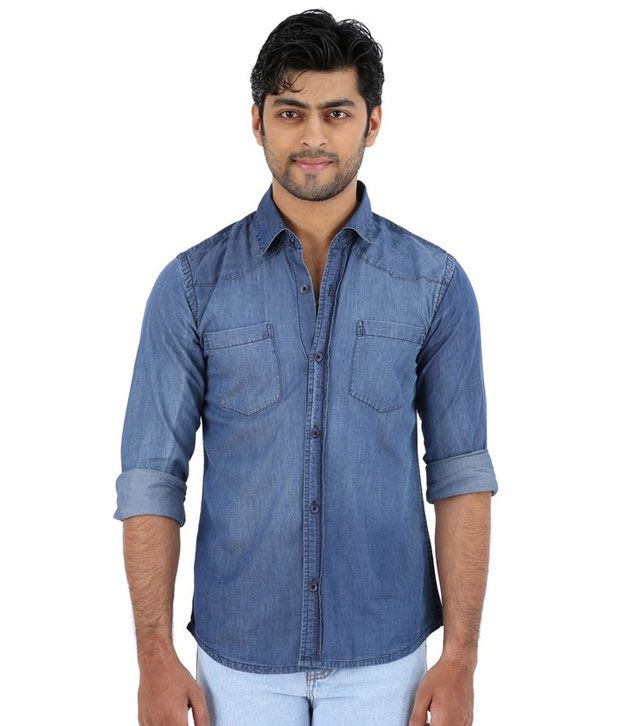e06b76f4259 Trigger Blue Denim Shirt - Buy Trigger Blue Denim Shirt Online at Best  Prices in India on Snapdeal