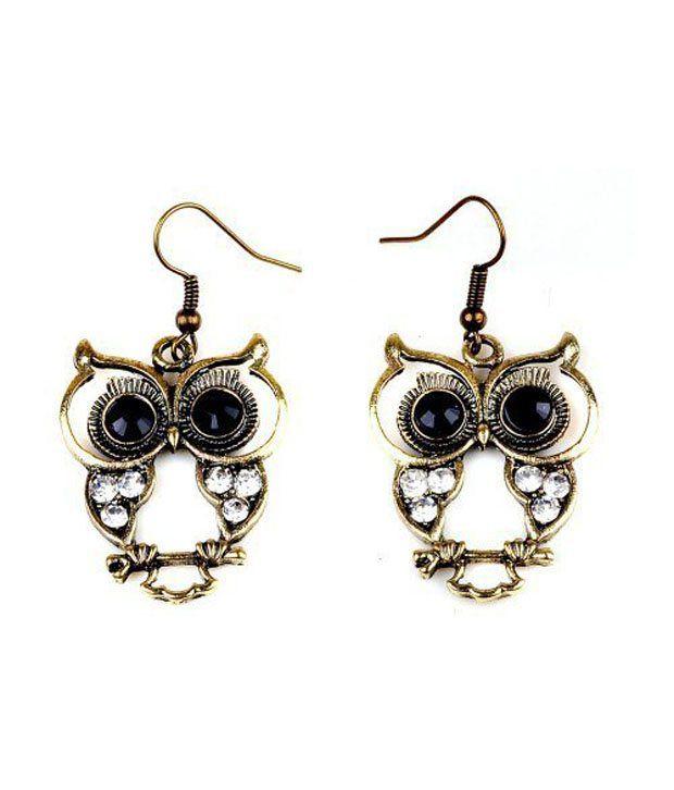 GirlZ Fashion Fashion High Quality Vintage Crystals Cute Owl Earrings